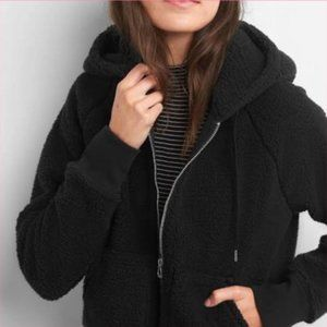 Gap Cozy True Black Women's Sherpa Hoodie